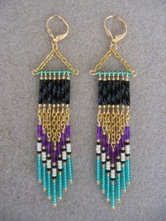 Seed+Bead+Earrings++Modern+Native+American+by+pattimacs+on+Etsy
