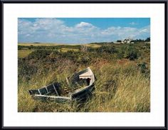 Dory in Marsh Menemsha Harbor, Martha's Vineyard by Alfred Eisenstaedt Framed Photographic Print