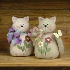 Country Side Crafts *PATTERN* Here Kitty Kitty - Primitive Homspun Felt Pattern | eBay