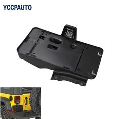 Rear Tail License Plate Bracket Holder Auto License Plate Mounting Holder Bracket for Jeep Wrangler 07+ US Version with Light