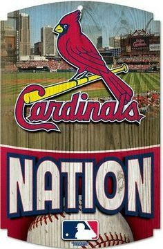 St. Louis Cardinals Wood Sign - Cardinals Nation