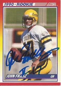 John Friesz AUTOGRAPHED ROOKIE Football by FloridaFindersSports, $5.00