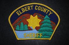 Elbert County Sheriff Patch, Colorado (Vintage)