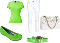 """""""Lime green"""" by begirl2799 on Polyvore"""