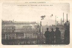 1919 - Jules Védrines pose Son Avion sur le Toit des Galeries Lafayette (7)