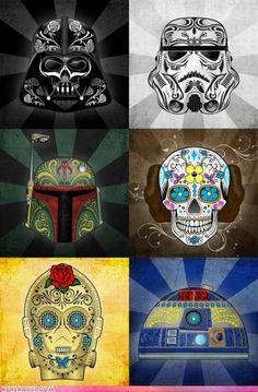 sugar skulls and star wars... two of my favorite things! :)