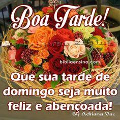 Boa Tarde! Que sua tarde de Domingo seja muito feliz #Deus_Abencoe_Voce #Abencoe #Deus