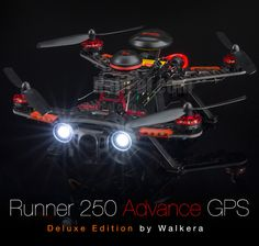 Enjoy the Fun of FPV Racing - Walkera Runner GPS The Runner now has the GPS System installed, it is a good starter for FPV Racing, it's like having a Co-Pilot on board, you can make it One-key go home or auto hoveri Latest Drone, New Drone, Aerial Drone, Drone Diy, Drones, Drone Quadcopter, Mavic Drone, Pilot, Remote Control Drone