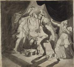 Johann Heinrich Fuseli [Swiss, 1741 - 1825] , An Old Man Murdered by Three Younger Men.   Swiss, early 1770s   42.2 x 47.6 cm (16 5/8 x 18 3/4 in.), 84.GG.711