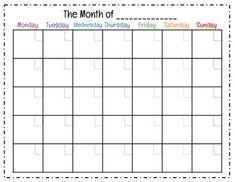 Blank Calendar Print Out  Blank Calendar    Blank