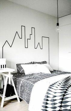 ideias de decoração barata para você fazer White Room Decor, Boys Room Decor, White Rooms, Room Decor Bedroom, Bedroom Ideas, Master Bedroom, Bedroom Black, White Walls, Home Wall Decor