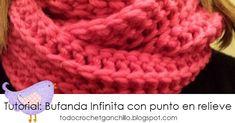 Video tutorial gratis de bufanda infinita tejida con ganchillo paso a paso