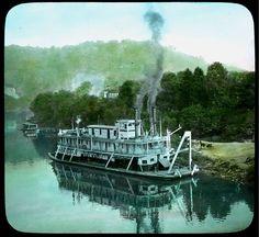 "Steamer ""Kentucky"" on Kentucky River- Elmer L. Foote Lantern Slide Collection, ca. 1900-1915 (Lexington Public Library)"