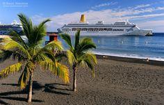 Playa de Bajamar, Isla de La Palma. Islas Canarias