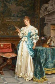 Tito Conti (Italian, 1842-1924)  – Agreeable Tidings