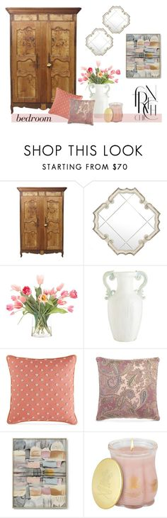"""antique french armoire"" by rvazquez ❤ liked on Polyvore featuring interior, interiors, interior design, home, home decor, interior decorating, NDI, Pier 1 Imports, Martha Stewart and Etro"
