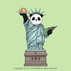Teddy Bear Cartoon, Cartoon Panda, Cute Panda Wallpaper, Panda Painting, Panda Drawing, Panda Images, Funny Animals, Cute Animals, Pugs