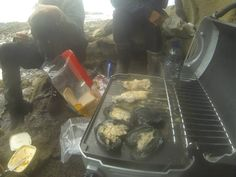 BBQ on the rocks after a dive