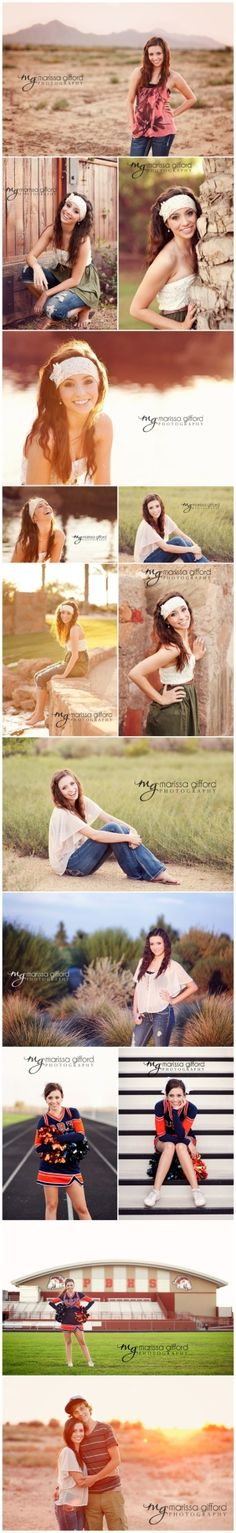 Great poses (senior girl) and beautiful photography