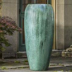 oversized planter celadon green