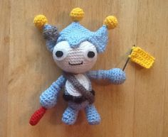 Craft Notes: Amigurumi Pattern: Blue Badger from Phoenix Wright Ace Attorney