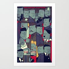 Inglourious Basterds Art Print by Ale Giorgini   Society6