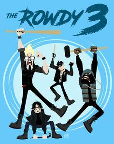 The Rowdy 3! #DirkGently