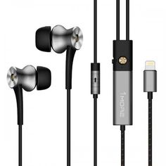 Dual Driver Active Noise Cancelling (ANC) In-Ear Headphones w/ Lightning Connection, MFi Certified, and Built-in Mic for iPhone iPad, iPod, Silver Running Headphones, Best Headphones, Sports Headphones, Audio Headphones, Lightning Jack, Noise Pollution, Ios, Surround Sound Systems, Noise Cancelling