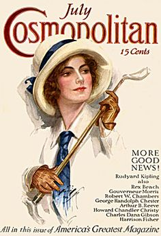 Cosmo Cover, Harrison Fisherhad almost 300 Cosmo covers.