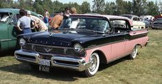 "1957 Monarch Turnpike Cruiser (Canada) Ford dealers in Canada got their own version of the glitzy hardtop. ""Twin jet"" roof air intakes, ""Breezeway"" opening rear window, and an average speed ""computer"" were included."