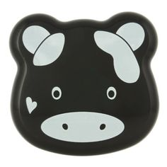 Kotobuki 2-Tier Bento Box, Black Cow