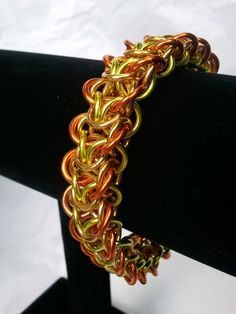 Orange yellow and gold elfweave braid by galiam34jewelry on Etsy, $25.00