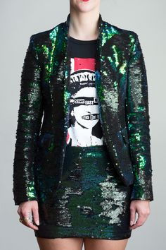 0d75b1dea7c Any Old Iron Peacock Sequin Suit Sequin Jacket