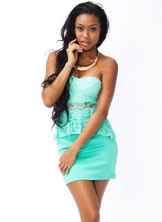 lace peplum dress $31.30