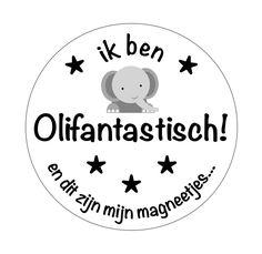 Sticker Ik ben Olifantastisch!