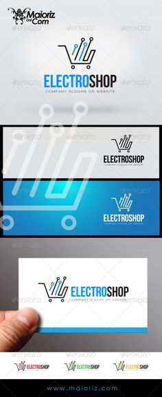 Electro Shop Logo by maioriz File DescriptionThis is custom logo template. Illustrator (AI), Vector (EPS) logo files included in this download. You can customi Logo Desing, Best Logo Design, Cart Logo, Web Design, Graphic Design, Electronic Shop, Bakery Logo, Electronic Engineering, Company Slogans