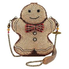 Mary Frances Gingerbread Man Beaded Jeweled Christmas Holiday Shoulder Handbag for sale online Unique Handbags, Unique Bags, Handbags On Sale, Vintage Handbags, Purses And Handbags, Mary Frances Purses, Mary Frances Handbags, Christmas Bags, Christmas Holiday