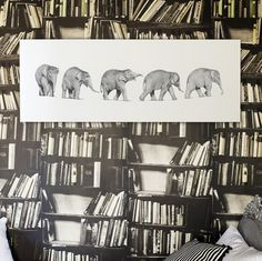 Follow The Leader - hardtofind.  Beautiful elephant print for the wall.