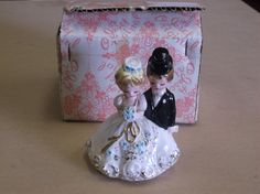 Vintage Josef Originals Bride annd Groom Figurine with Original Box by russnmt on Etsy