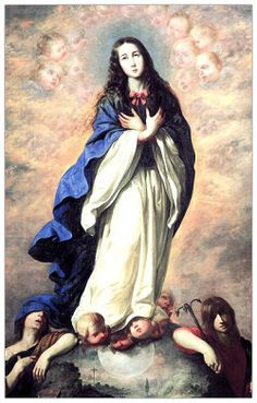 Mother Mary in Clouds