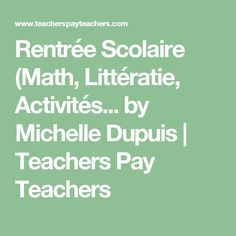 real college essay examples teacher pay teachers teaching and  rentree scolaire math litteratie activites by michelle dupuis teachers