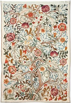 May Morris - Embroidery Kit, c. 1885. - Google Search