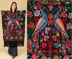 ViNtAgE 60's Black Rainbow PEACOCK Mexican by hellhoundvintage, $158.00