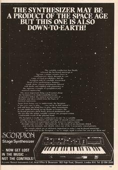 Scorpion synth ad.