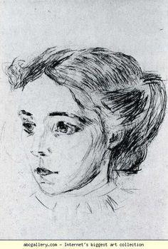 Edvard Munch. The Nurse. Olga's Gallery.