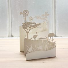 Laser cut card that is more true to my style, I would like to include animals in mine Laser Cut Paper, Laser Cut Wood, Laser Cutting, Vinyl Paper, Paper Art, Card Making Inspiration, Making Ideas, Vinyl Crafts, Paper Crafts