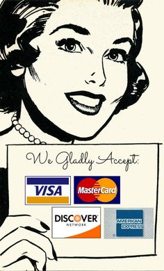 Loving my new accept credit cards sign
