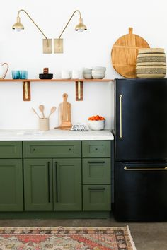 Studio Kitchen Reveal & Cabinet Painting Tutorial - Little Green Notebook