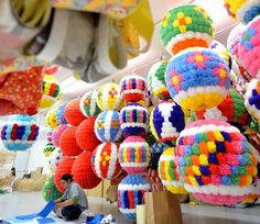 """Quake-hit Sendai gears up for Tanabata Festival. SENDAI--A company hit hard by the 2011 disaster is creating colorful flower decorations made from traditional """"washi"""" paper for the Sendai Tanabata Festival, one of the major summer festivals in the Tohoku region."""