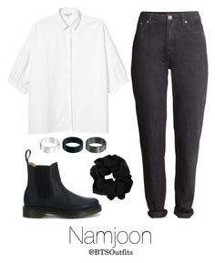 """""""Young Forever Inspired: Namjoon"""" by btsoutfits ❤ liked on Polyvore featuring Monki, H&M, ASOS and Dr. Martens"""